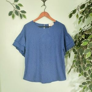 Striped Bell Sleeve Fantastic Fawn Blouse
